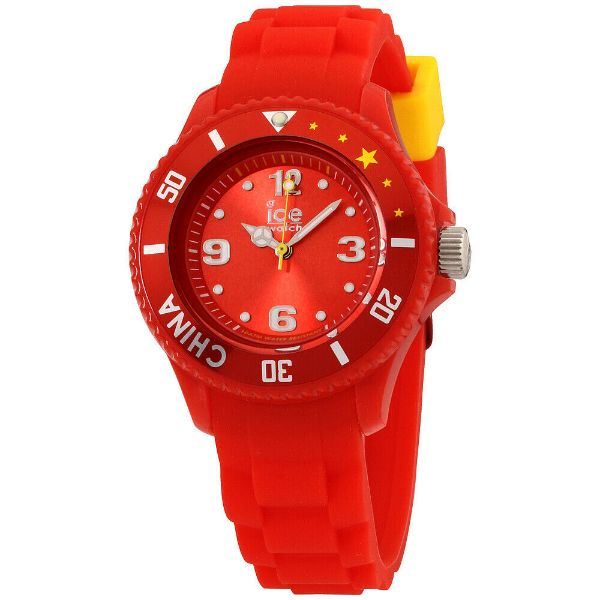 Daily Steals-Ice World China Edition Red Dial Silicone Strap Unisex Watch WO.CN.S.S.12 - 40mm-Accessories-