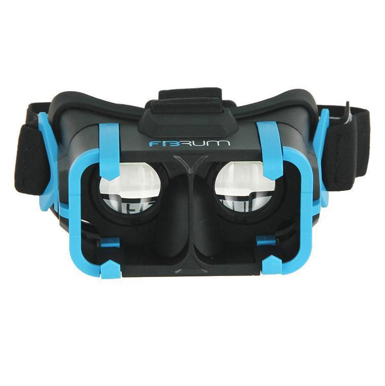 "Daily Steals-Fibrum Pro Virtual Reality Headset + Apps for 4""- 6"" Screen Smartphones - Black-VR and Video Games-"