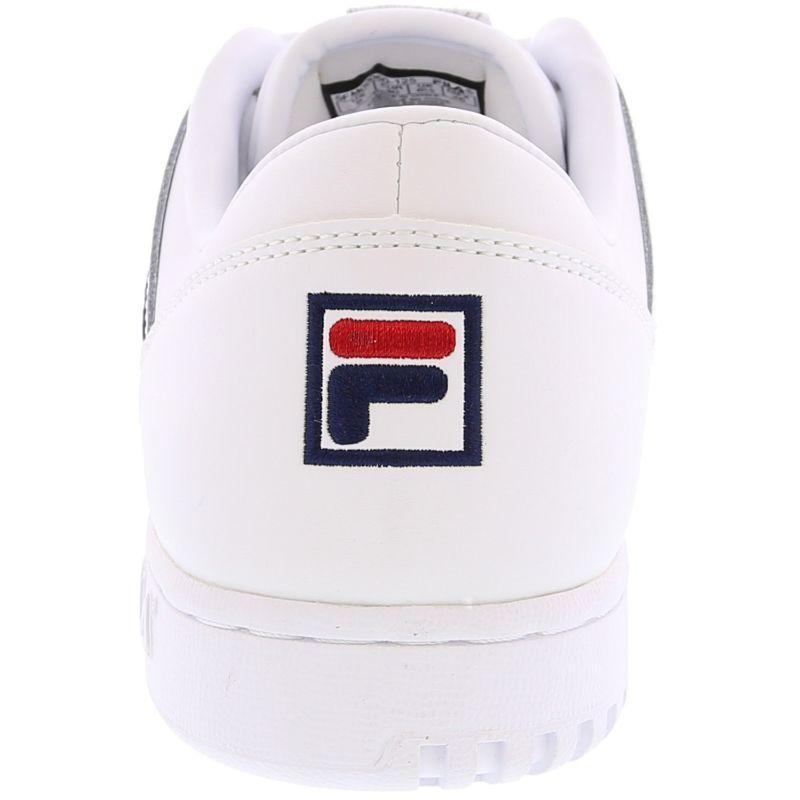 Fila Women's Original Fitness White/Navy/Red Ankle-High Fashion Sneaker-9-