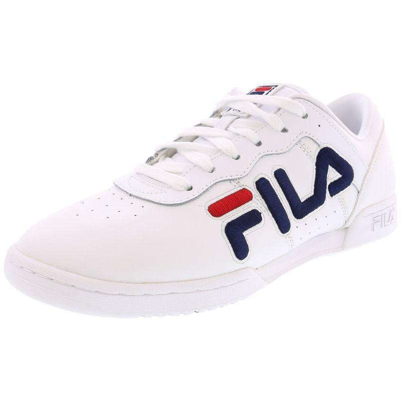 Fila Women's Original Fitness White/Navy/Red Ankle-High Fashion Sneaker-9.5-