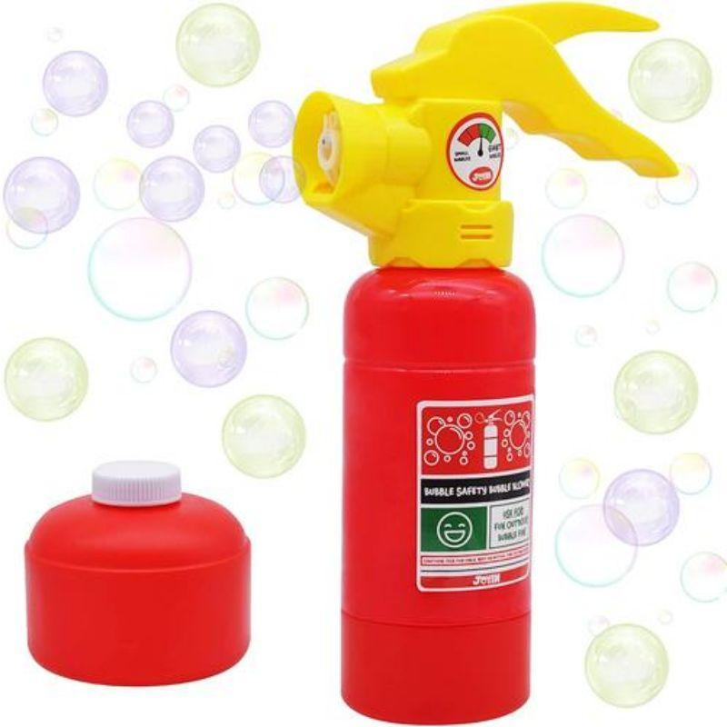 Fire Extinguisher Theme Automatic Bubble Blower Machine and Bubble Solution-
