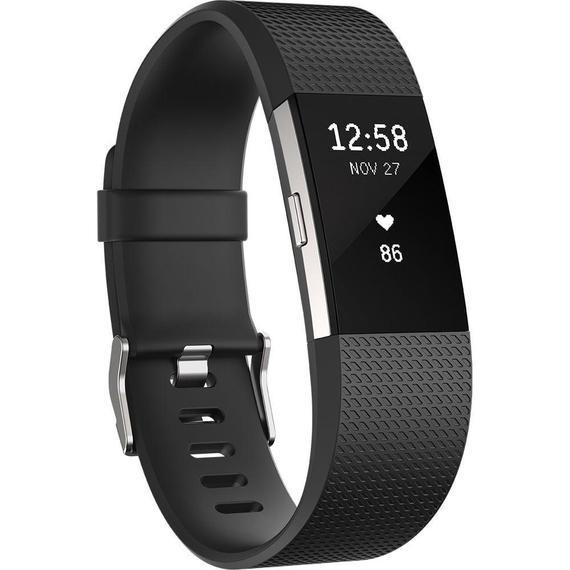 Daily Steals-Fitbit Charge 2 Activity Fitness Tracker and Heart Rate Monitor Wristband - (Small-Black)-Wearables-