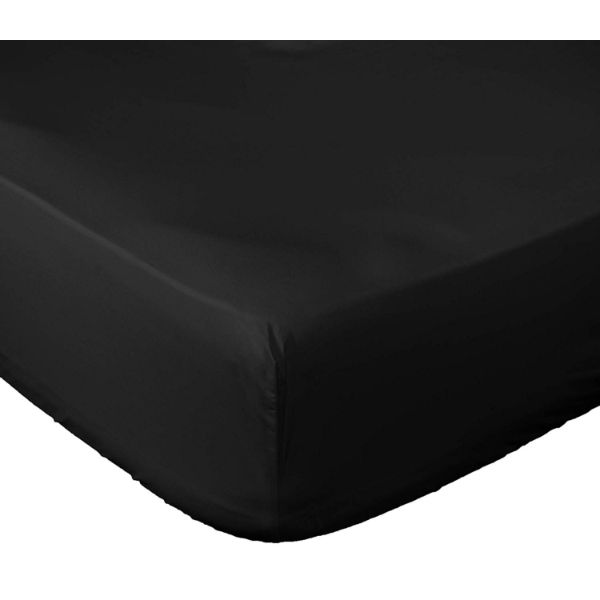 Lux Fitted Brushed Microfiber 1800 Bed Sheet-Black-KING-Daily Steals