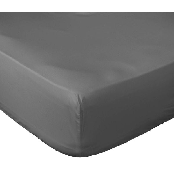 Lux Fitted Brushed Microfiber 1800 Bed Sheet-Grey-KING-Daily Steals