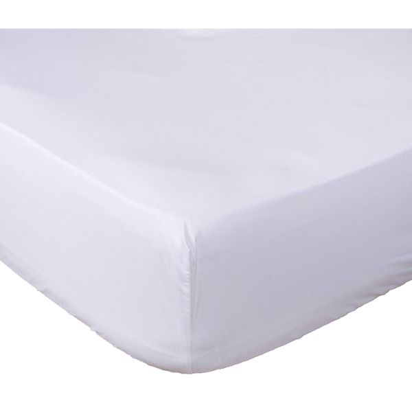 Lux Fitted Brushed Microfiber 1800 Bed Sheet-White-KING-Daily Steals