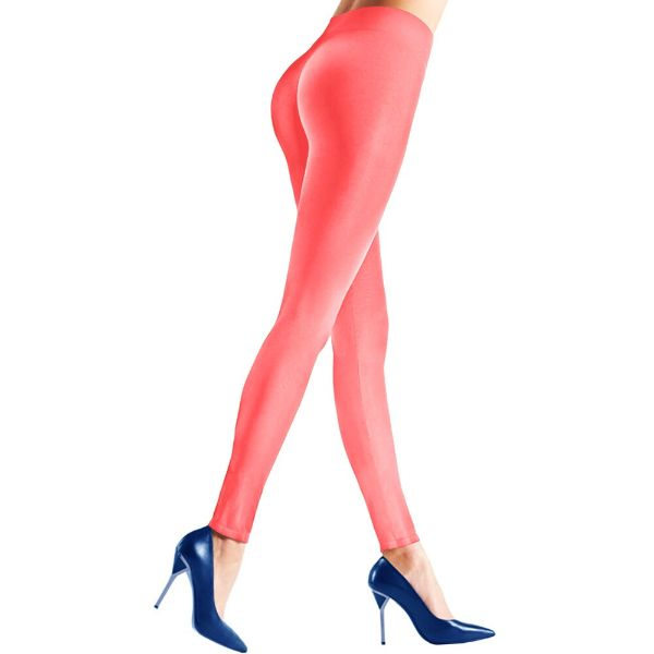 Womens Seamless Body Shaper Premium Stretch Leggings-CORAL-L/XL-Daily Steals