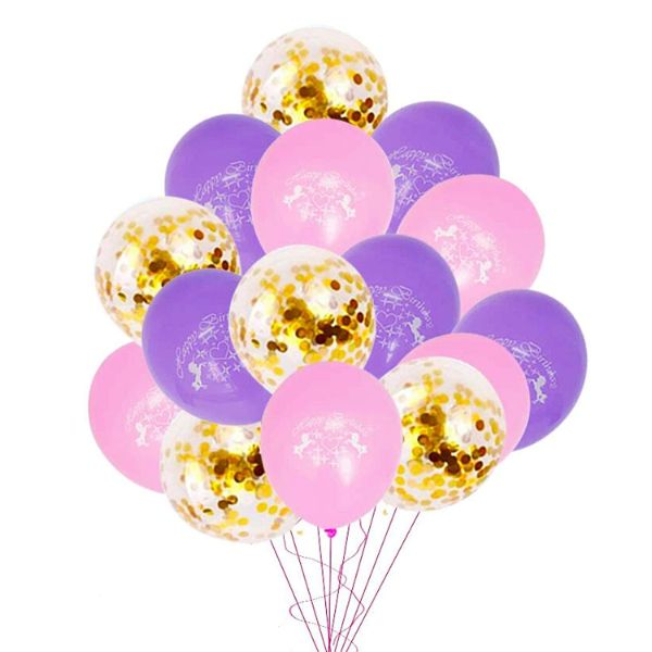12 Inch Unicorn Balloons for Birthday - 15 Pack-Daily Steals