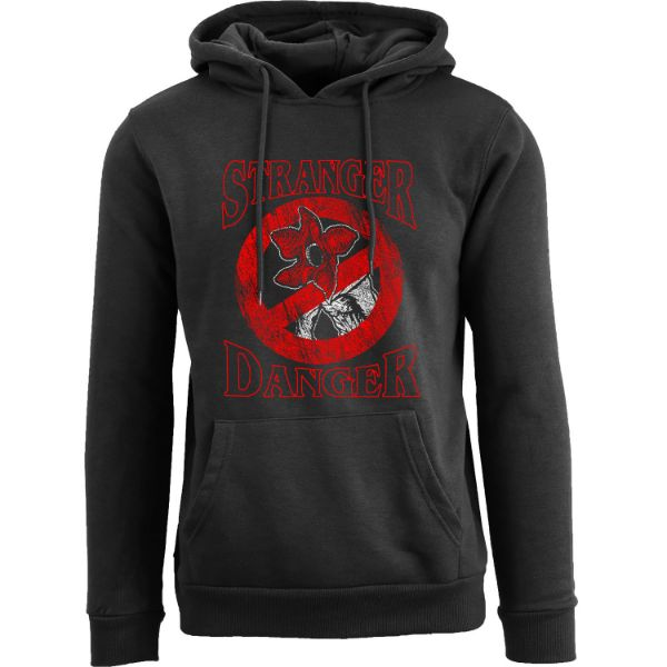 Women's Best of Stranger Things Hoodie-Stranger Danger - Black-S-Daily Steals