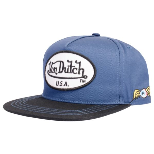 Daily Steals-Von Dutch Men's Women's USA Trucker Hat - One Size, Navy-Accessories-