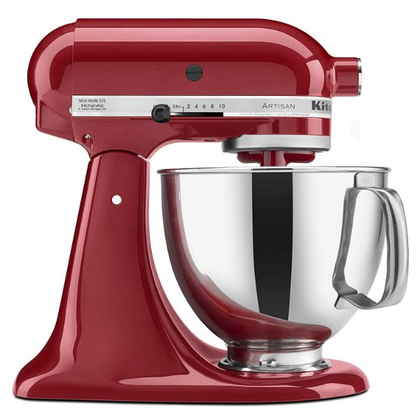 KitchenAid Artisan Series 5-Qt. Stand Mixer with Pouring Shield - 6 Colors-Empire Red-Daily Steals