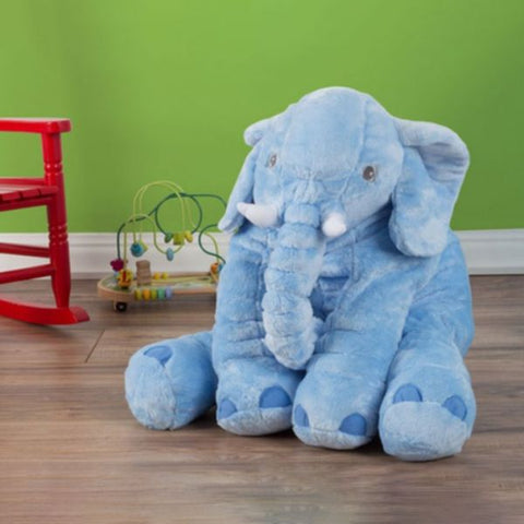 Daily Steals-Plush Stuffed Elephant Soft Cuddle Pillow - 2 Colors-Toddlers and Babies-Blue-