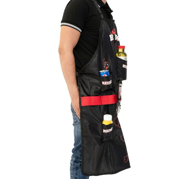 Daily Steals-BBQ Boss Apron With Multi Pockets & Bottle Opener-Kitchen-
