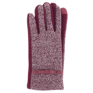 Jack & Missy Two-Tone Texting Gloves-Burgundy-Daily Steals