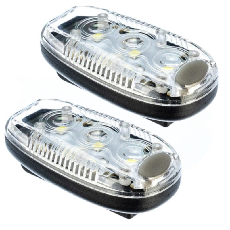 Running and Bicycle Safety Light With Clip, Weather Resistant - 2 Pack-White-Daily Steals
