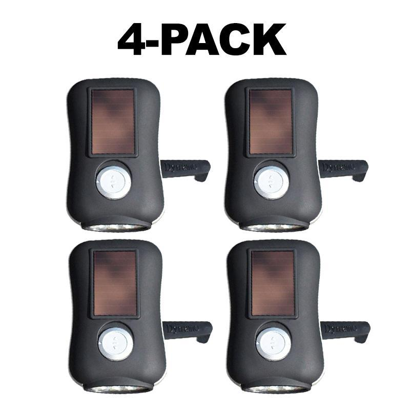 [4-Pack] MIni Flash Solar and Crank Flashlight-Daily Steals