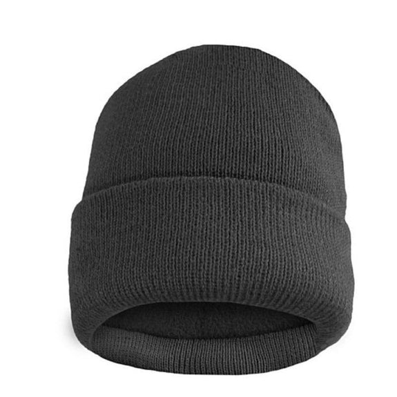 Fleece Lined Fold Over Thermal Winter Hat-Grey-Daily Steals