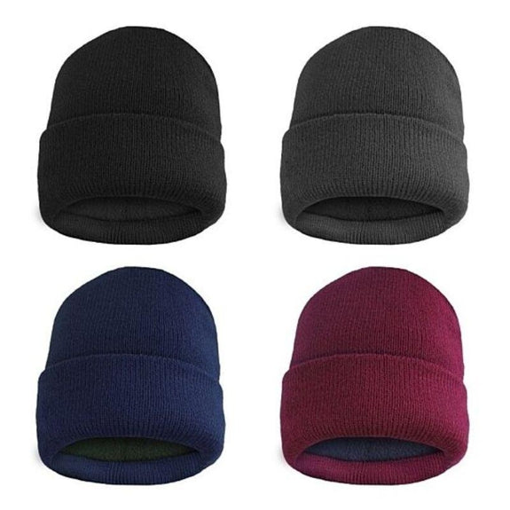 Fleece Lined Fold Over Thermal Winter Hat-Daily Steals