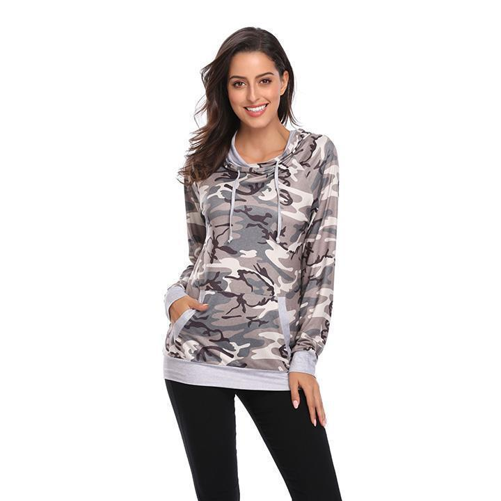 Daily Steals-Floral Hoodie-Women's Apparel-Camo-L-