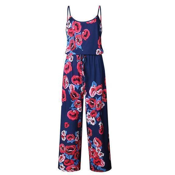 Daily Steals-Floral Pant Romper-Women's Apparel-Rose-Large-