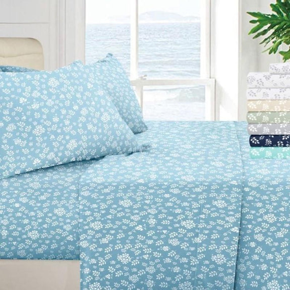 Floral Design 4 Piece Bed Sheet Set-Daily Steals
