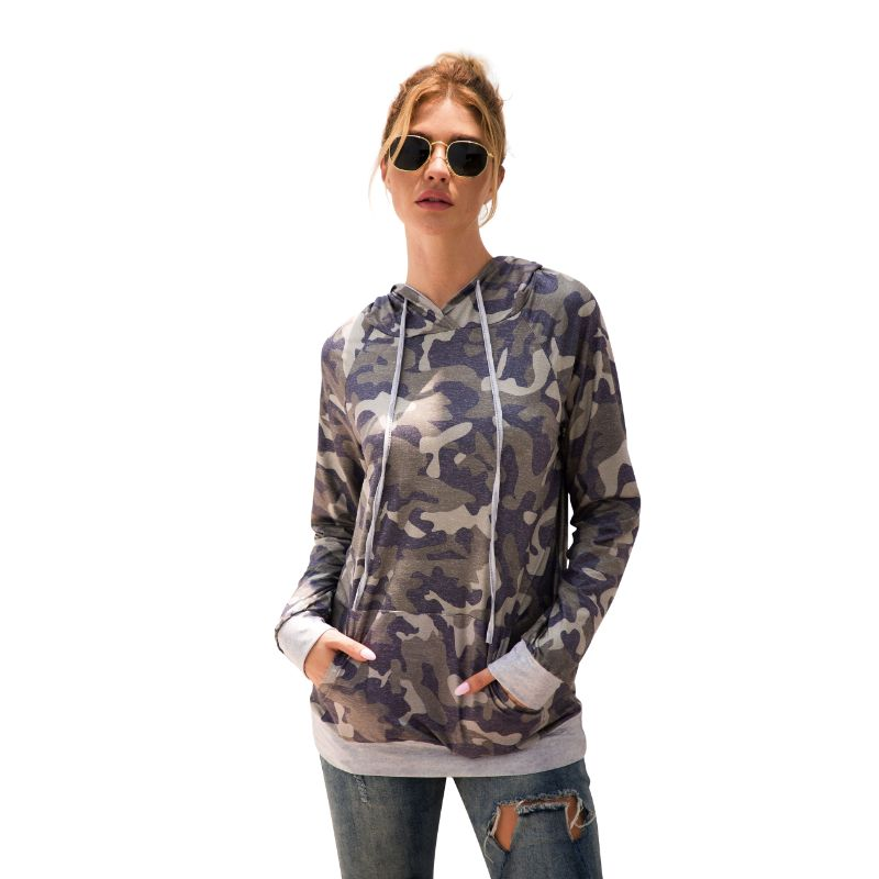Floral and Camouflage Hoodie Shirt-Green-2XL-Daily Steals