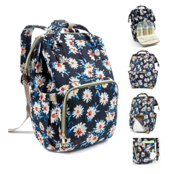 Diaper Bag Backpack- 9 Colors-Floral-Daily Steals