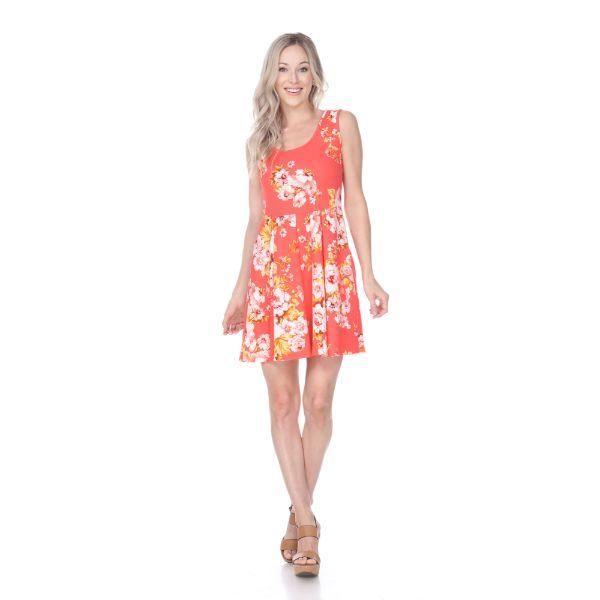 Daily Steals-Flower Print Crystal Dress-Women's Apparel-Yellow-S-