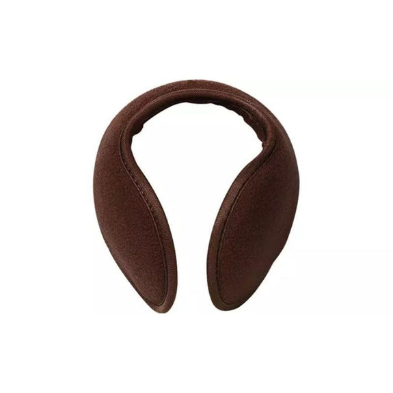 Foldable Behind The Head Ear Warmers - 4 Pack-Brown-