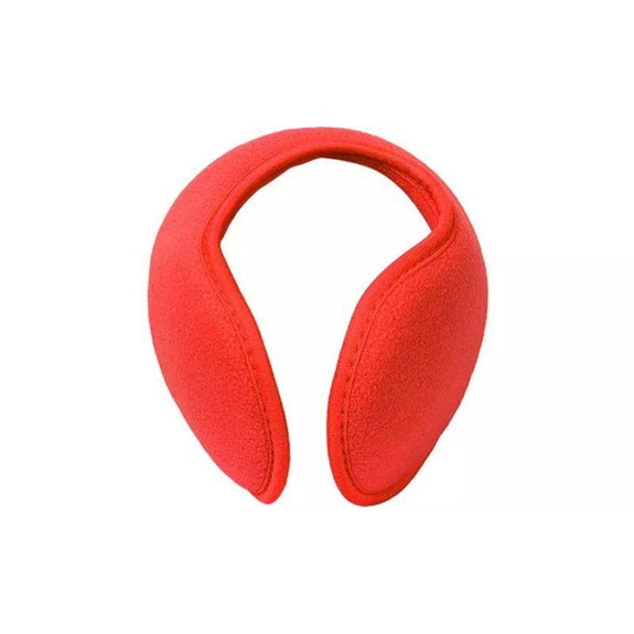 Foldable Behind The Head Ear Warmers - 4 Pack-Red-