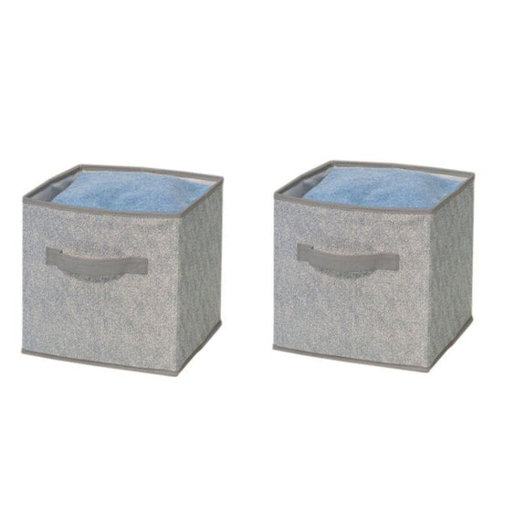 Foldable Storage Bins-Grey-2 Pack-