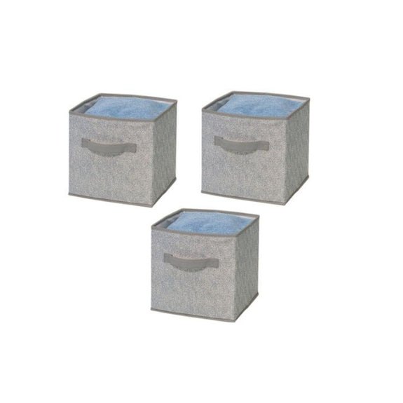 Foldable Storage Bins-Grey-3 Pack-