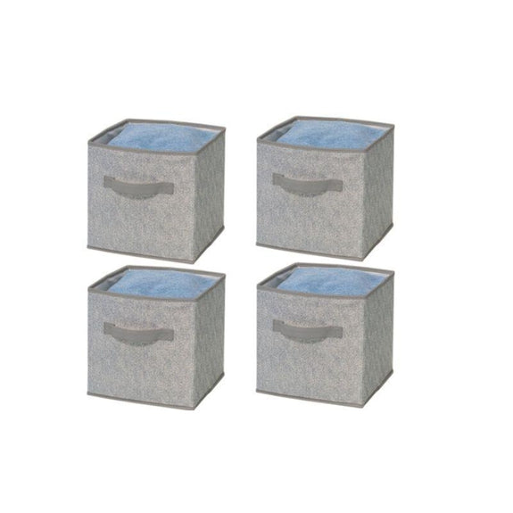 Foldable Storage Bins-Grey-4 Pack-