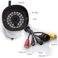 Foscam Outdoor Security Bullet Camera, 720P HD WiFi Surveillance IP Camera-