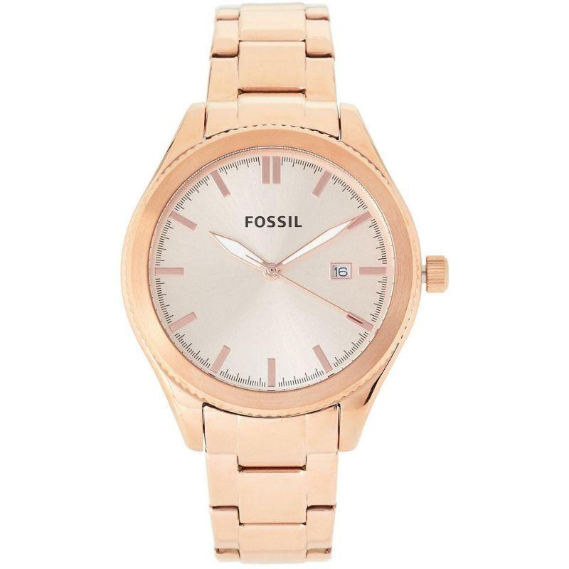 Fossil Typographer Rose Gold 40mm Ladies Watch - BQ3184-