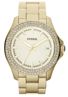 Fossil Women's Retro Traveler Stainless Steel Watch-Rose Gold-Daily Steals