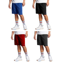 Champion Men's Moisture Wicking Cross Training Shorts - 4 Pack