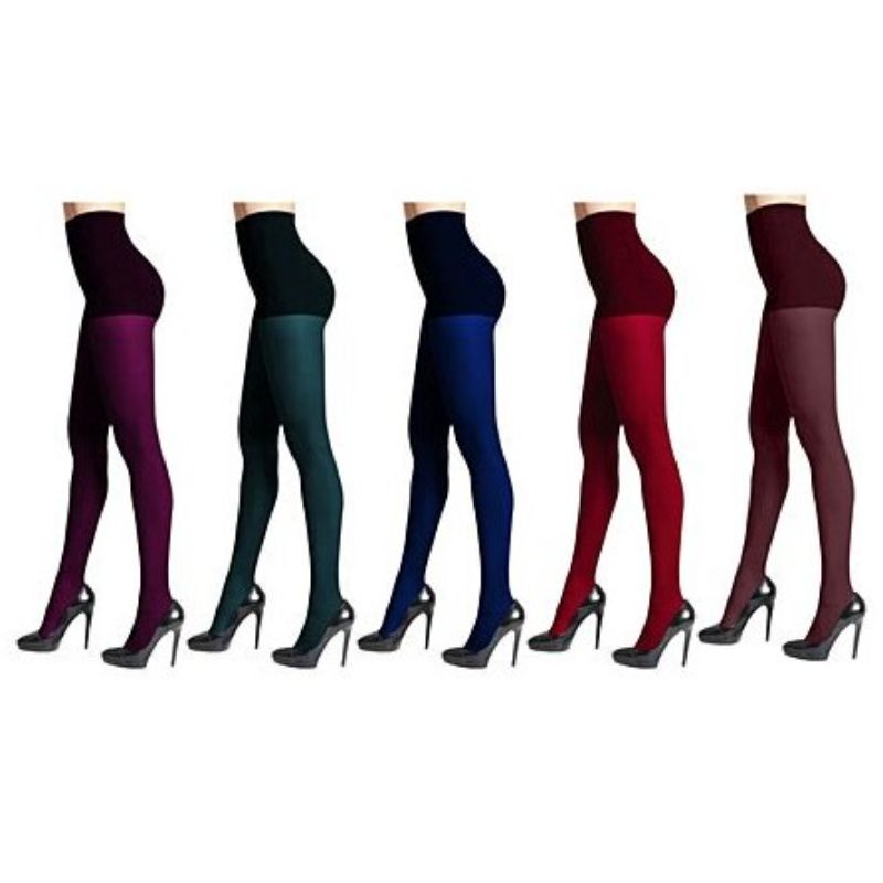 DKNY Women's Comfort Luxe Control Top Assorted Tights - 4 Pack