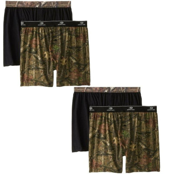 Men's Mossy Oak Moisture Wicking Boxer Shorts - 4 Pack-S-Daily Steals