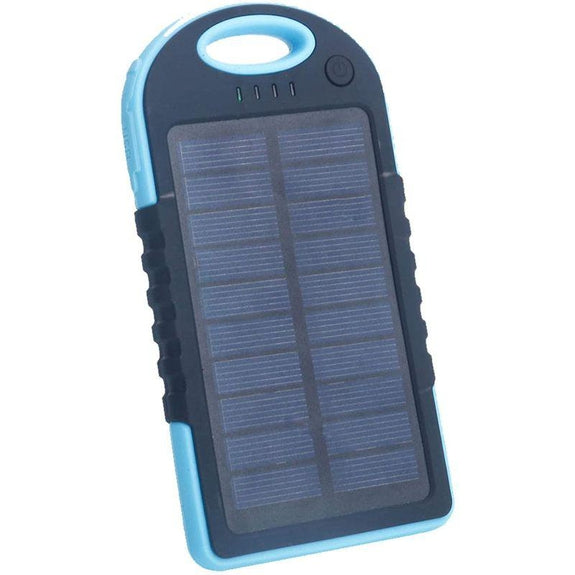 5,000mAh Water-Resistant Solar Smartphone Charger-Blue-Daily Steals