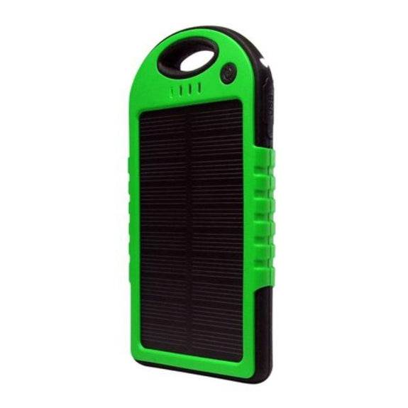 5,000mAh Water-Resistant Solar Smartphone Charger-Green-Daily Steals