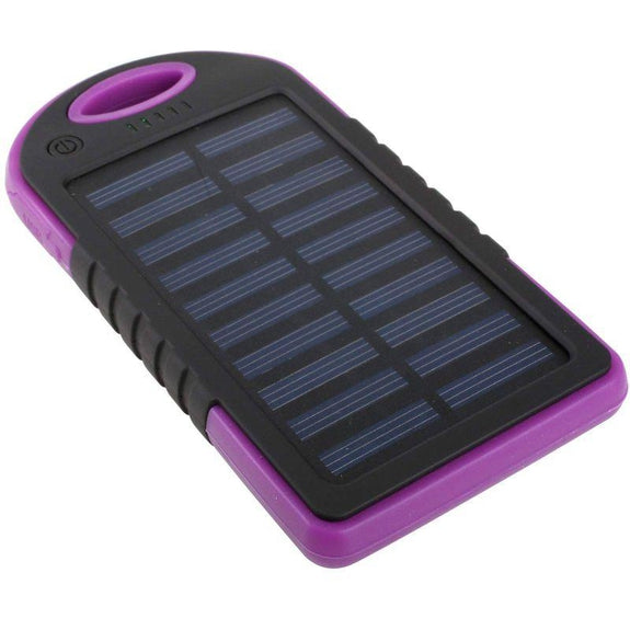 5,000mAh Water-Resistant Solar Smartphone Charger-Pink-Daily Steals