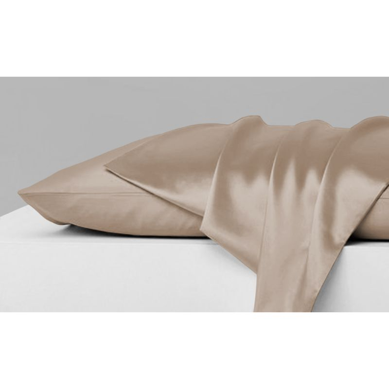 Mulberry Silky Satin Pillowcases - 2 Piece Set