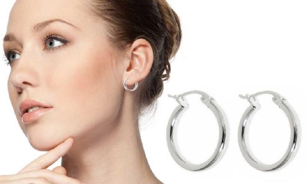 Daily Steals-French Lock Hoop Earrings-Jewelry-