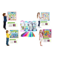 Kids Washable Coloring Play Mat with 12 Washable Markers-Daily Steals