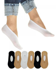 Women's Foot Liner Socks - 12 Pairs in Assorted Colors-Daily Steals