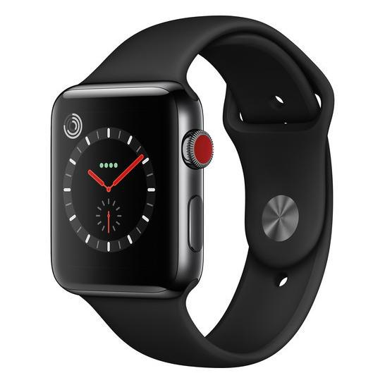 Apple Watch Series 3 Smartwatch (GPS + Cellular)-42mm Space Black Stainless Steel with Black Sports Band-42mm-Daily Steals