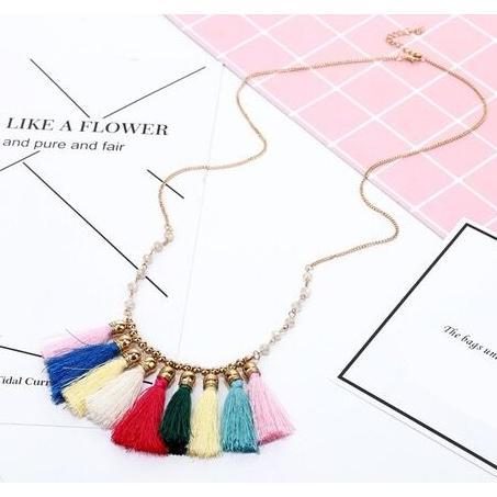 Drop Tassel Necklace-Daily Steals