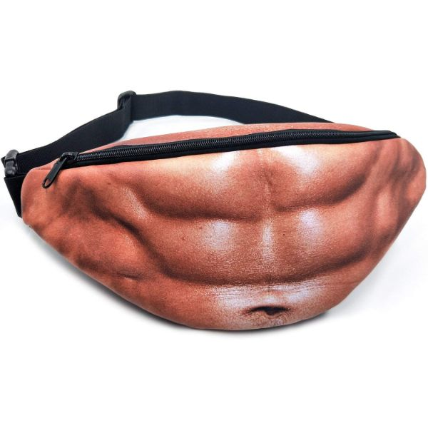 Daily Steals-3D Beer Belly or Muscle Waist Pocket/Fanny Pack-Accessories-Muscles-