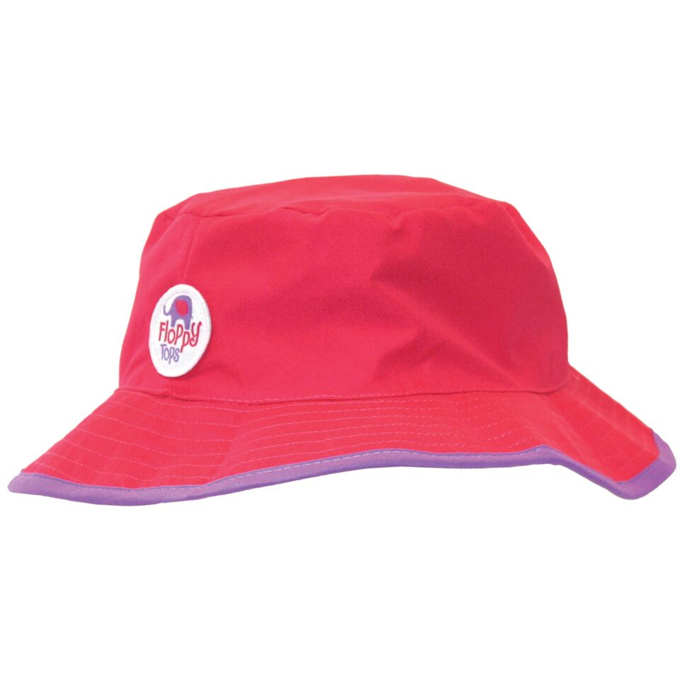 Kids Floppy Tops Water-Resistant, UV-Protective Hats-Magenta-Daily Steals