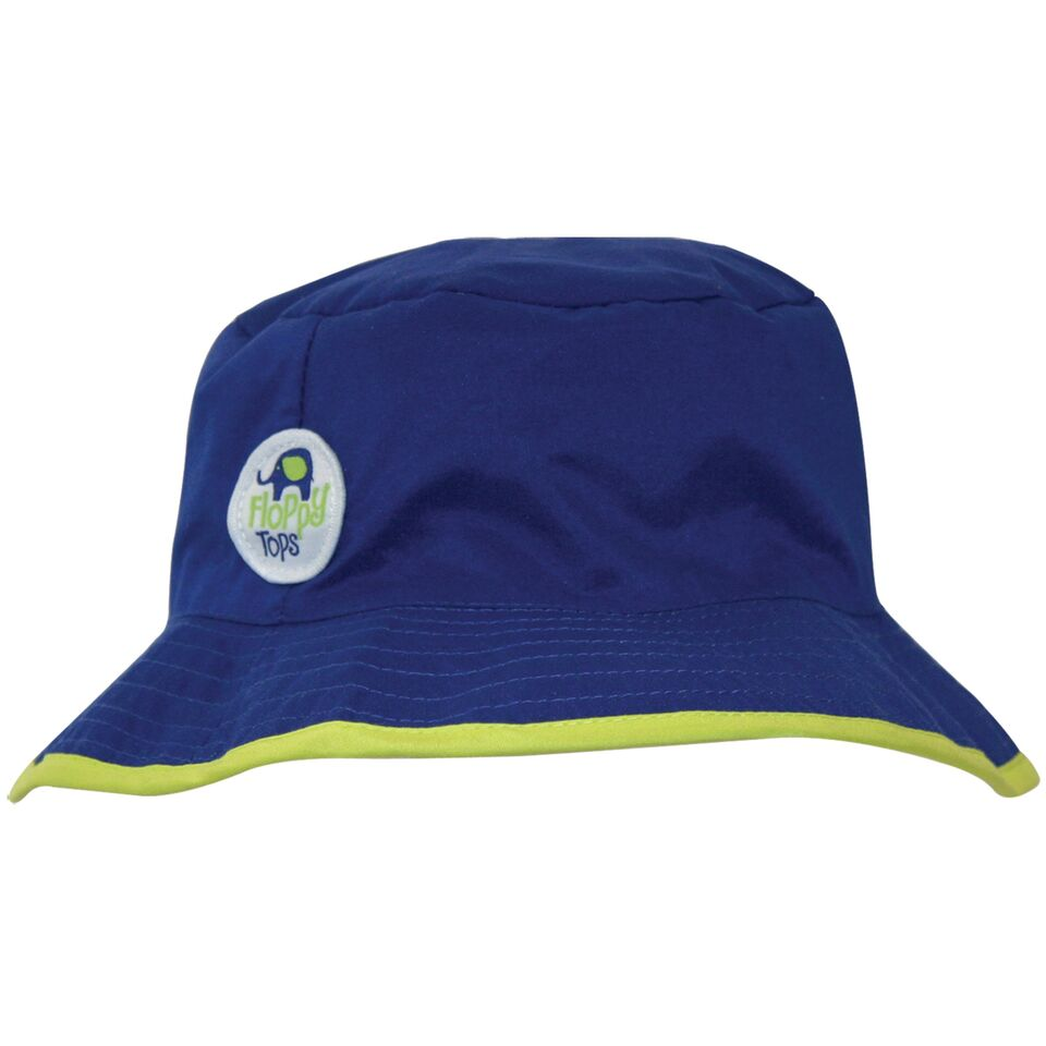 Kids Floppy Tops Water-Resistant, UV-Protective Hats-Navy-Daily Steals